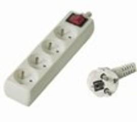 Kabel prodlužka PP4 220V 10m (4zás. + vypínač) POWERGARDEN