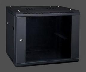 EUROCASE GMA6406 06U wall mounted cabinet 600x450x370mm black (nástěnný rozvaděč jednodílný, černý,