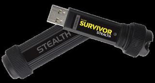 CORSAIR Survivor Stealth 64GB USB3 flash drive kovovy+guma odolny +vojenské zabarvení (čtení max 70M