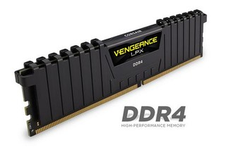 CORSAIR 16GB DDR4 2666MHz VENGEANCE LPX BLACK PC4-21300 CL16-18-18-35 1.2V XMP2.0 (s chladičem