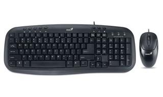 GENIUS klávesnice+myš KM-210 USB černá, drátový set cz+sk layout multimedia
