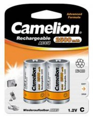CAMELION 2ks baterie BABY/C/HR14 2500mAh blistr, nabíjecí baterie 1.2V Ni-MH