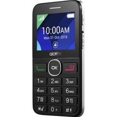 ALCATEL telefon ONETOUCH OT-2008G pro seniory, barva Black/metal Silver, černo-stříbrný