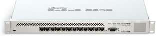 MIKROTIK Cloud Core Router CCR1016, 12x GB LAN, Level6, RM1U, LCD, PSU