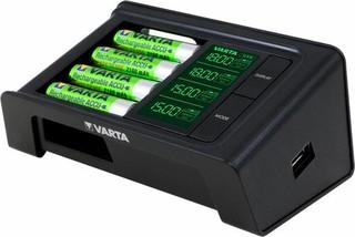 VARTA LCD Smart Charger nabíječka pro až 4 baterie AA/AAA + funkce USBout (obsahuje i 4ks baterií)