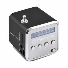 MANTA MM420BLK FM rádio černé, USB, microSD, AUX