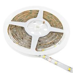 WHITENERGY LED pásek, SMD3528, 5m, 120 diod/m, 9.6W/m, 12V, světle zelená, vnitřní IP67, 8mm, bez ko