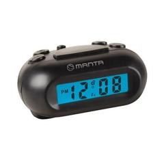 MANTA CLK012 Digitální budík, LCD, Snooze, 2xAAA