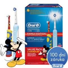 ORAL-B, Elektrický kartáček, Family pack (PC500 + DB10K)