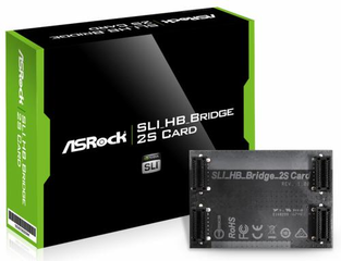 ASROCK SLI BRIDGE 2way (podpora 2K60Hz, 2K120Hz+, 4K, 5K, nVidia surround )