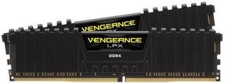 CORSAIR 32GB=2x16B DDR4 2400MHz VENGEANCE LPX BLACK CL16-16-16-39 1.2V XMP2.0 (32GB=kit 2ks 16GB s c