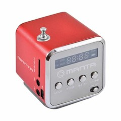MANTA MM420RD FM rádio červené, USB, microSD, AUX