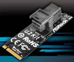 ASROCK U.2 KIT pro připojení rychlých mini-SAS SSD (typu U.2 PCIe Gen3 x4 SSD) do M.2 konektoru na M