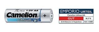 CAMELION 2ks baterie LITHIUM AA/FR6 blistr baterie 1.5V (cena za 2pack)