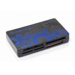 MANTA čtečka paměťových karet externí MCR003 (pro SD, micro SD, MMC, M2, MS atd) (black reader, přip