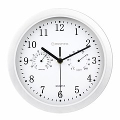 MANTA CLK003 Nástěnné hodiny s teploměrem a vlhkoměrem, 1xAAA