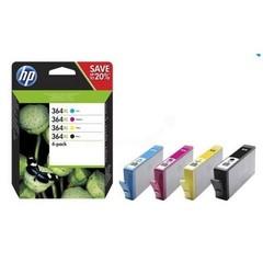 HP N9J74AE = sada náplní č.364XL CN684EE + CB323EE + CB324EE + CB325EE černá+azurová+purpurová+žlutá