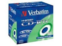 VERBATIM 43148 CD-RW 10jewel 12x media (krabice=10x10pack)