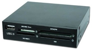 GEMBIRD čtečka interní CF/MD/SM/MS/SD/MMC/XD + USB černá