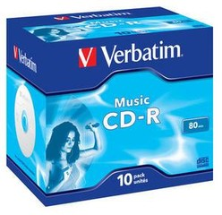 VERBATIM 43365 CD-R 10jewel AUDIO 80min (krabice=10x10pack)