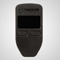 TREZOR Black, bitcoinová peněženka černá, Bitcoin wallet, šifrovací zařízení pro práci s kryptoměnam