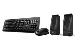 GENIUS klávesnice+myš+repro KMS U130 kancelářský set USB