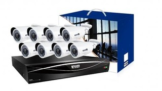 KGUARD hybrid set HD1681-8WA813F 16+8 (CCTV+IP)kanálový rekordér 1080P/720p/960H/IPcam+8x 2M barevná