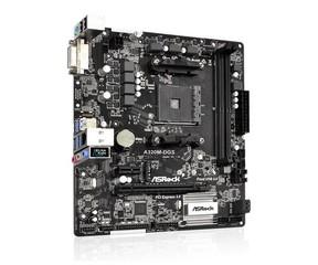 ASROCK MB A320M-DGS (AM4, amd A320, 2xDDR4, PCIE, 4xSATA3 + Ultra M.2, USB3.1, DVI, 7.1, GLAN, mATX)