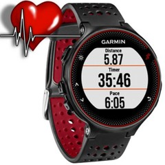 GARMIN hodinky FORERUNNER 235 HR black/red
