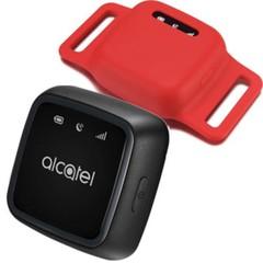 ALCATEL MOVETRACK PET lokalizační čip černý, červené pouzdro, GPS lokátor