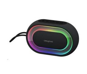 CREATIVE repro HALO RGB (bluetooth, přenosné s programovatelnými světelnými efekty, jack, USB)