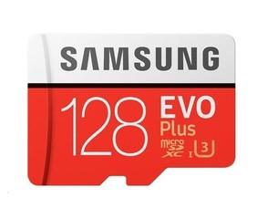 Samsung micro SD card SDXC 128GB class10 UHS-3 (+ 1x adapter microSD na SD)