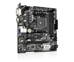 ASROCK MB A320M-HDV (AM4, amd A320, 2xDDR4, PCIE, 4xSATA3 + Ultra M.2, USB3.1, VGA+DVI+HDMI, 7.1, GL