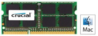 CRUCIAL pro Apple/Mac 2GB DDR3 SO-DIMM 1333MHz PC3-10600 CL9 1.35V/1.50V Dual Voltage