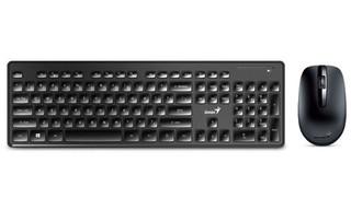 GENIUS klávesnice+myš SlimStar 8006 USB black, 2.4GHz, bezdrátový set, CZ+SK layout SmartGenius App