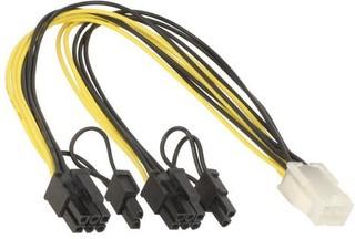 ANPIX kabel PCI Express napájecí 6pin(F) na 2x 8pin (6+2pin M) prodlužovací cca 20 cm