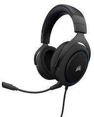 CORSAIR HS50 Stereo sluchátka Blue (černé + modré prvky) Gaming Headset, sluchátka s mikrofonem, (ná