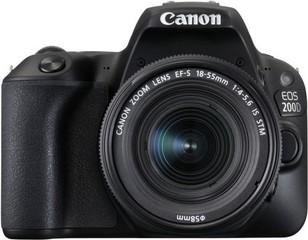 CANON EOS 200D s objektivem EF-s 18-55 mm IS STM digitální fotoaparát, cca 25,8MPix, zrcadlovka APS-