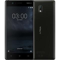 NOKIA 3 Dual SIM Black, mobilní telefon černý, podporuje 2 SIM karty, fotoaparát, Android 7