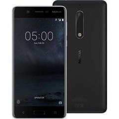 NOKIA 5 Dual SIM Black, mobilní telefon černý, podporuje 2 SIM karty, fotoaparát, Android 7