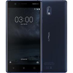 NOKIA 3 Dual SIM Blue, mobilní telefon modrý, podporuje 2 SIM karty, fotoaparát, Android 7