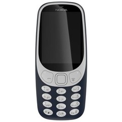 NOKIA 3310 Dual SIM Blue, mobilní telefon modrý, podporuje 2 SIM karty, fotoaparát, FM rádio