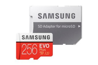 SAMSUNG micro SD card SDXC 256GB EVO PLUS class10 UHS-I U3 (+ 1x adapter microSD na SD)