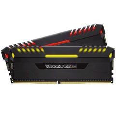 CORSAIR 16GB=2x8GB DDR4 3600MHz VENGEANCE BLACK RGB LED CL18-19-19-39 1.35V XMP2.0 (RGB LED, 16GB=ki