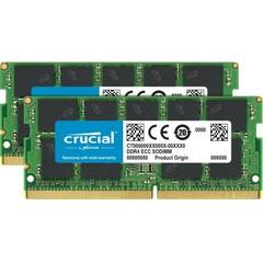 CRUCIAL pro Apple/Mac 32GB=2x16GB DDR4 SO-DIMM 2400MHz PC3-19200 CL17 1.2V Dual Ranked x8