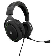 CORSAIR HS50 Stereo sluchátka Green (černé + zelené prvky) Gaming Headset, sluchátka s mikrofonem, (