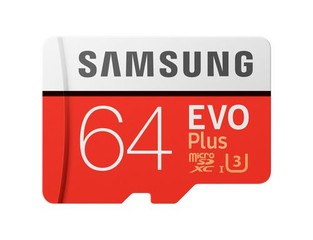 SAMSUNG micro SD card SDXC 64GB EVO PLUS class10 UHS-I U3 (+ 1x adapter microSD na SD)