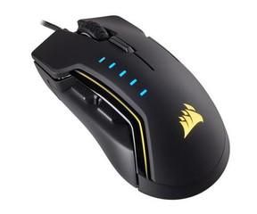 CORSAIR myš GLAIVE RGB Optical BLACK Gaming Mouse (černá herní myš) 16000 DPI (EU Version, pro hráče