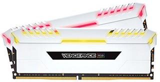 CORSAIR 16GB=2x8GB DDR4 3200MHz VENGEANCE WHITE RGB LED CL16-18-18-36 1.35V XMP2.0 (RGB LED, 16GB=ki